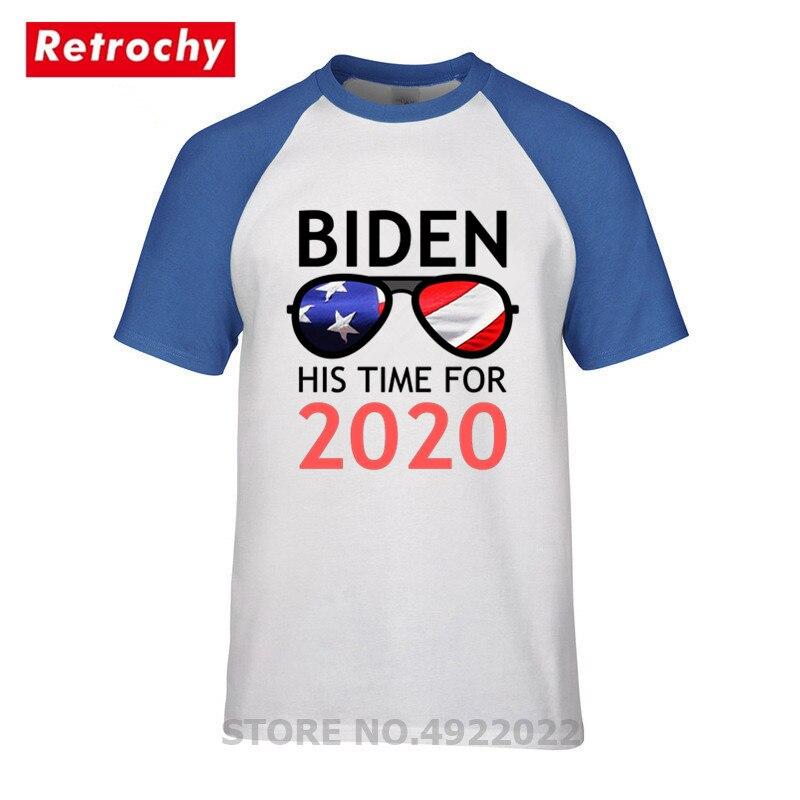 Joe Biden T-Shirt America President Biden His Time For 2020 T Shirt Anti-Donald Trump 2019 Funny USA Flag Casual Men Cool Tshirt