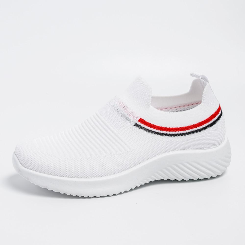 Women's Summer Sneakers  Slip On Flat Shoes White  Loafers  Women's Tennis Shoes Sock Sneakers Shoes 2020 Women Casual Shoes