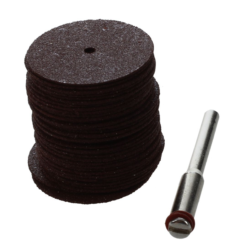 GTBL 36 Pcs Cutting Discs Grinding Wheel Set Round Ø25X6mm Brown For Dremel KL 1