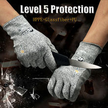 Устойчивые к порезам рабочие перчатки Нитриловый уровень 5 Защитные перчатки для промышленности