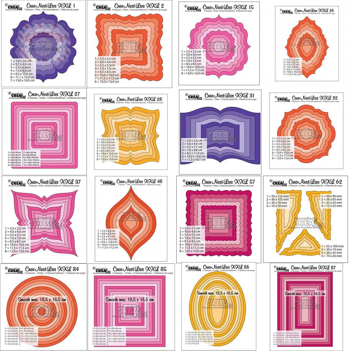 7x Rectangle Cutting Dies Stencil Scrapbook Tool Album Paper Card New Decorative