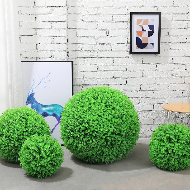 Artificial Hanging Plants Leaf Ball  Plastic Leaves Faux 2019 New Product Artificial Plants  Living Room Mall Green Decoration