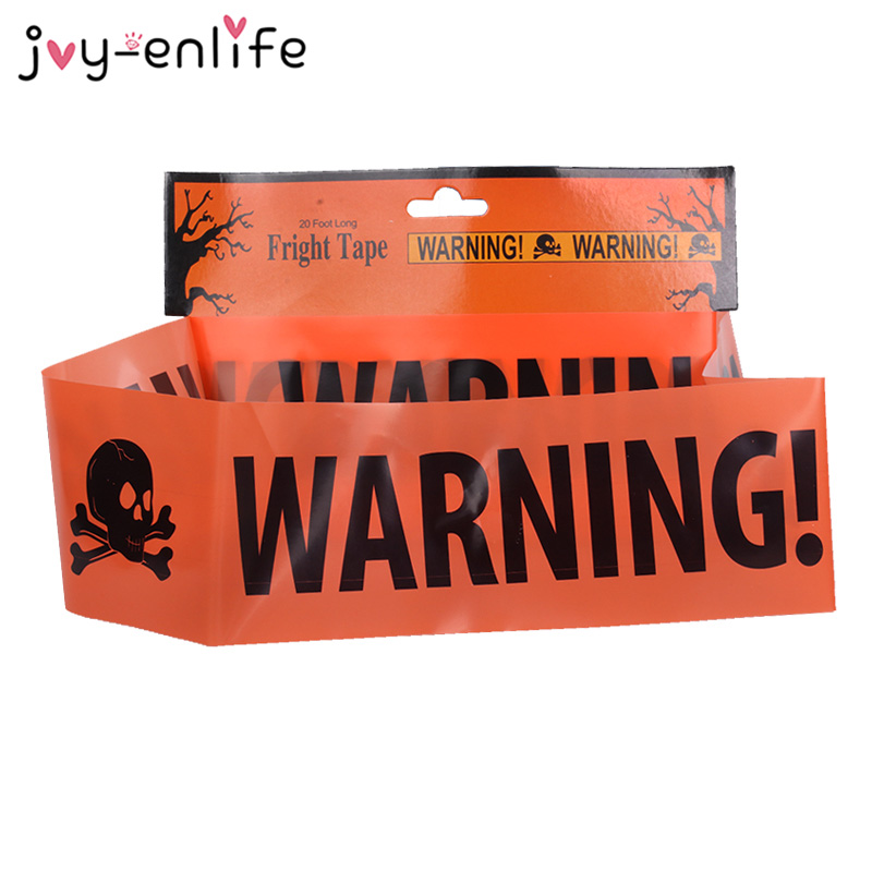 Caution Haunted Party Tape Decor House Spooky Movie Halloween Birthday Event