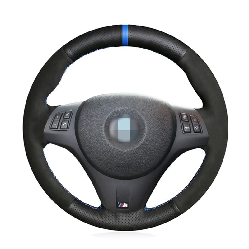 Daim noir En Cuir cousu À la Main Couverture De Volant de Voiture pour BMW M Sport G30 G31 G32 G20 G21 G14 G15 G16 X3 G01 X4 G02 X5 G05