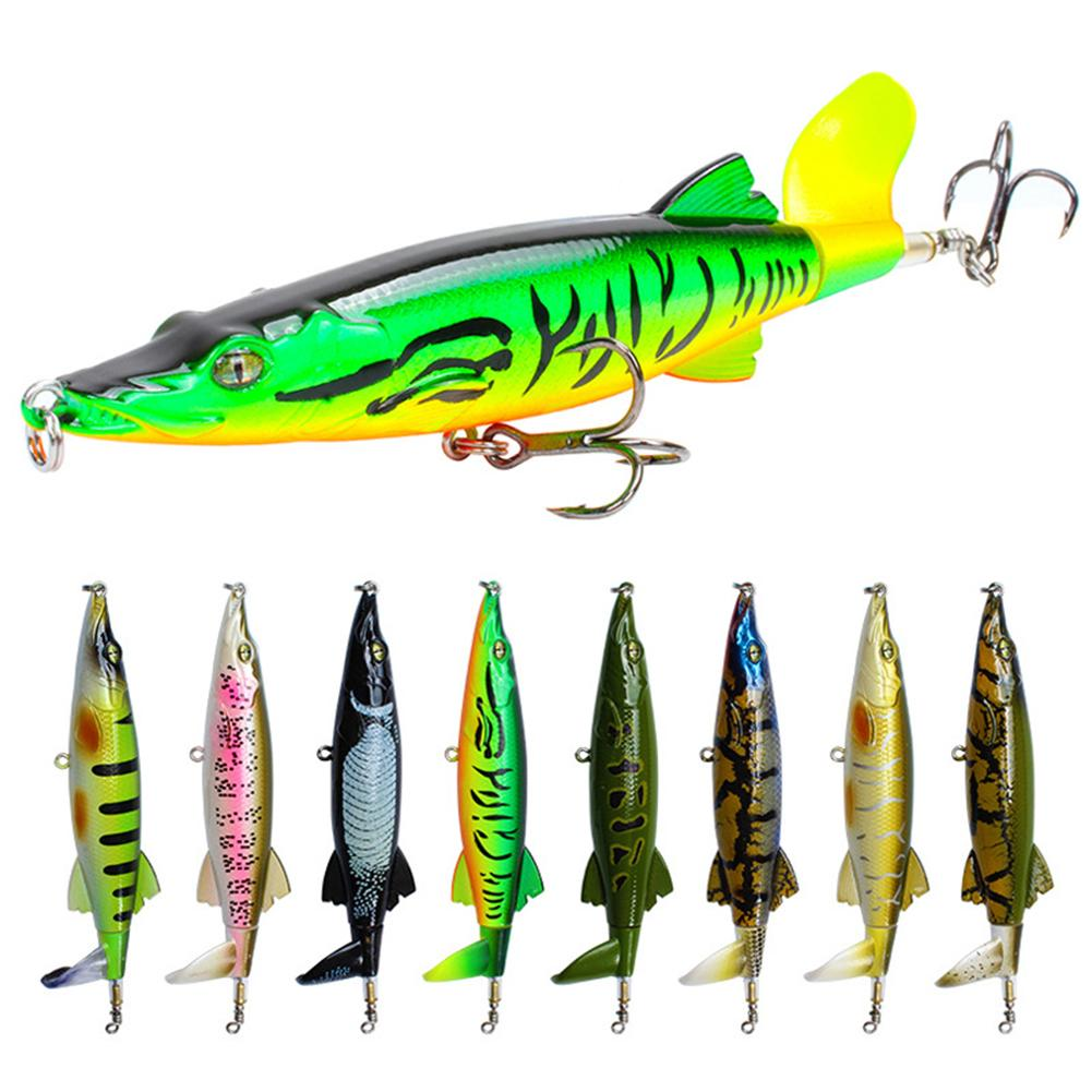 1PCS 16g 13cm Fishing Lures Topwater Floating Hard Baits Rotating Spins Tail Artificial Hard Bait Bass Lures