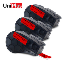UniPlus Red Label Maker for Brady M21-750-595-RD 19mm*6.4m Vinyl Labeling Tapes Compatible BMP21 ID PAL LABPAL Printer