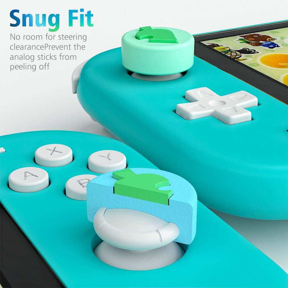 OIVO Animal Crossing Silicone Leaf Joystick Thumb Grip for Nintend Switch/Lite  Joy-con 4 PCS Stick Grip Key Case Analog Caps