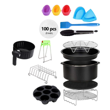13pcs Air Fryer Accessories 8 Inch Fit All 4.2QT-6.8QT Deep Fryer Accessories with Pizza pan Metal holder Kitchen Cooking Tool