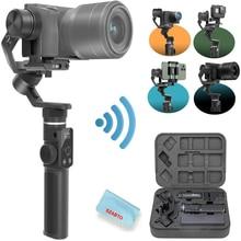 FeiyuTech G6max جهاز موازنة الكاميرا ومنع انحرافها للكاميرا عديمة المرآة/كاميرا العمل/كاميرا جيب/الهاتف الذكي ، لسوني a6300/a6500 Hero8