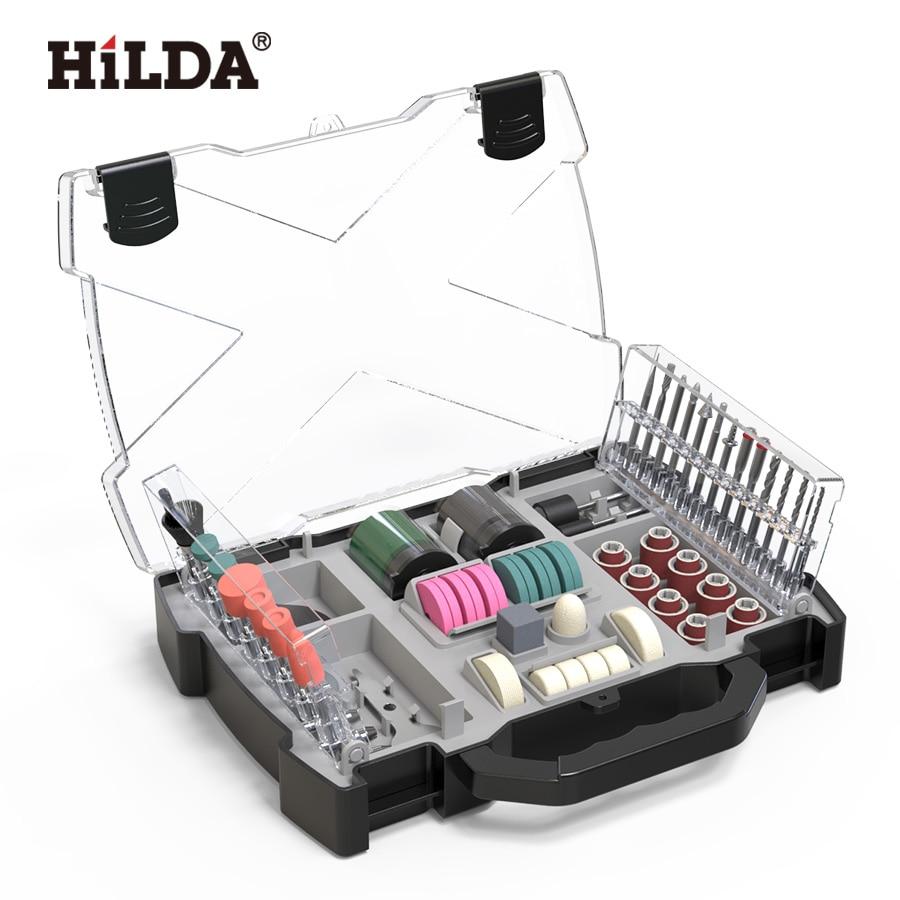 HILDA Dremel Accessories Set Rotary Tool Accessories For Grinding Sanding Polishing Cutting Tool Kit For Hilda Dremel