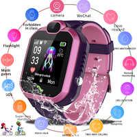 Lige novo relógio inteligente à prova dlbs água crianças lbs base estação de posicionamento relógios crianças relógio inteligente chamada vídeo miúdo smartwatch
