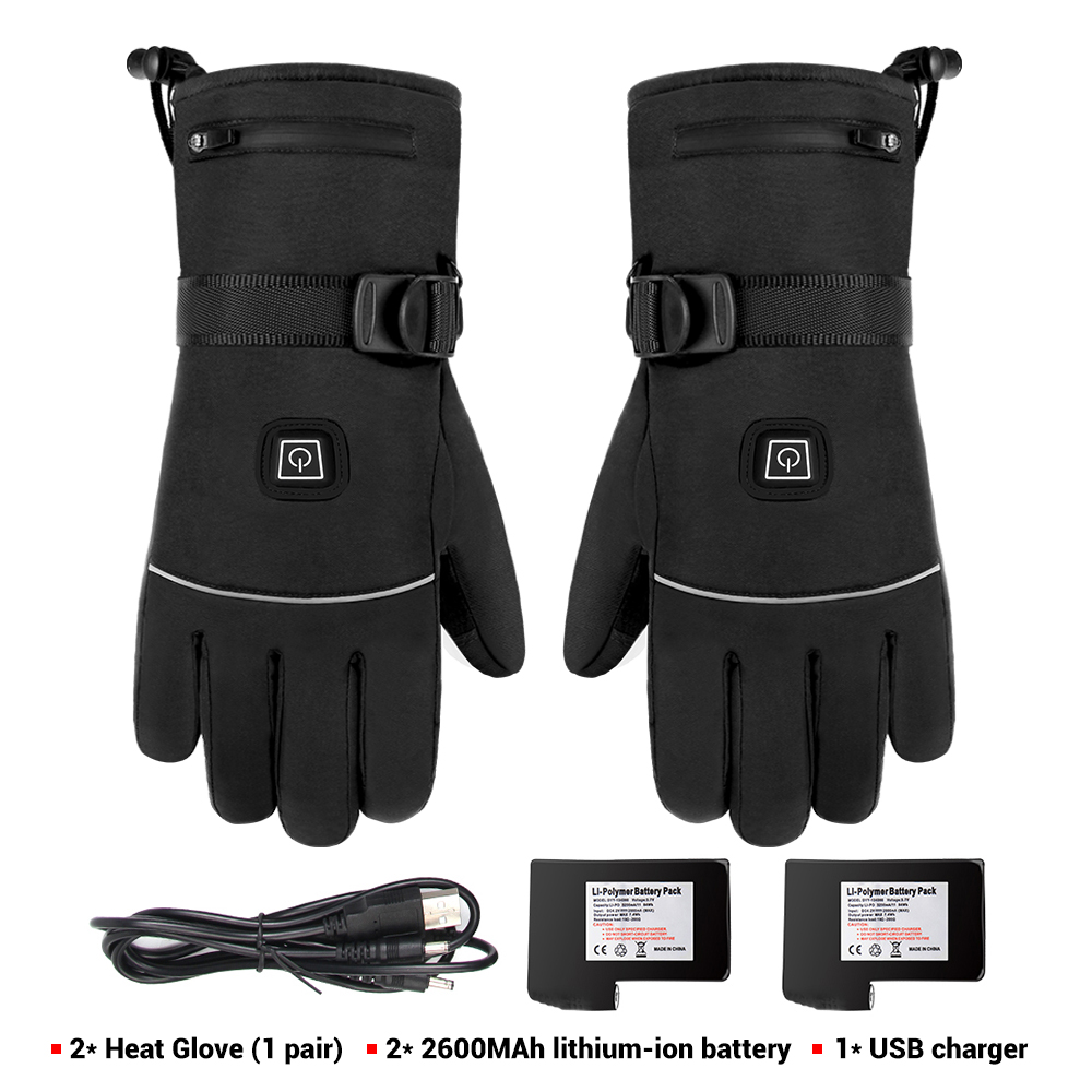 Winter Motorcycle Gloves Heating Guantes  Waterproof Moto Gloves 