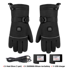 Motorcycle-Gloves Heating Waterproof Riding--Winter USB with Battery for Skiing Guantes