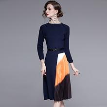 فستان كلاسيكي لشتاء والخريف انيق