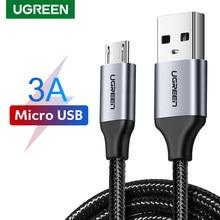Ugreen qc3.0 micro cabo usb 3a carregamento rápido para redmi nota 5 pro samsung s7 usb micro cabo de dados fio para samsung htc carregador