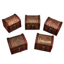 Antique Jewellery Ring Necklace Earrings Bracelet Display Wooden Case Beautiful Women Jewelry Storage Box Case Holder #BL5(China)