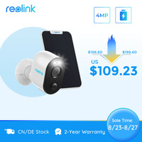 Reolink 4MP 2.4G/5Ghz WiFi Camera Battery-Powered Human/CarDetection Spotlight Color Night Vision Argus 3 Pro with Solar Panel