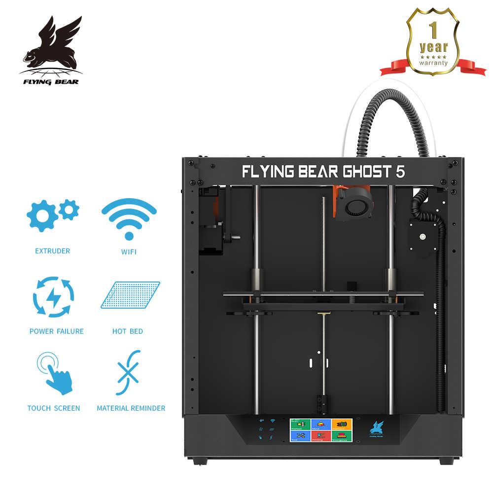 הכי חדש עיצוב Flyingbear-Ghost 5 מלא מתכת מסגרת גבוהה דיוק DIY 3d מדפסת Diy ערכת זכוכית פלטפורמת Wifi