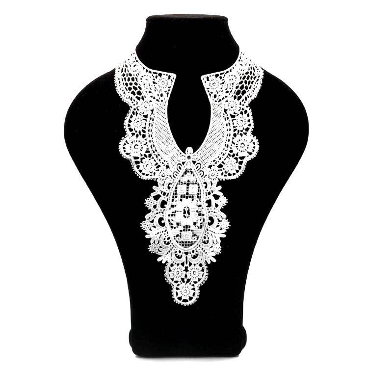 Flower Embroidery Collar Venise High Quality Lace Flowers Neckline Collar Applique Trim And Lace Fabric Sewing Used In Skirt Wed