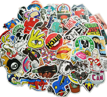100pcs Stickers brand Special Offer Waterproof PVC Mixed Cartoon Toy Vsco DIY Stickers for Skate Car Bike Motorcycle Kids image