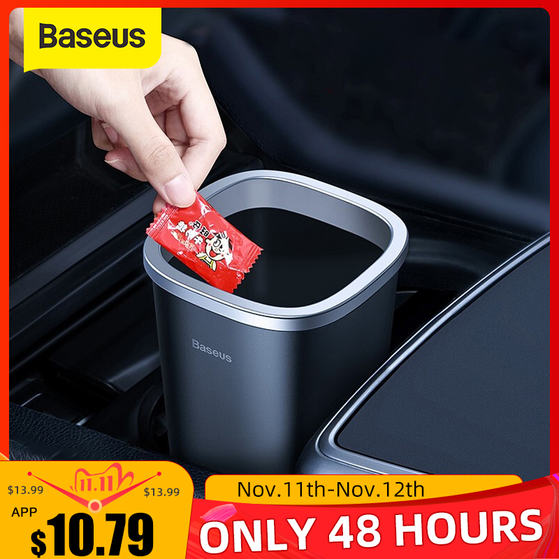 Baseus Car Trsah Bin 800ml Auto Garbage Can Car-styling Rubbish Box Holder With 90pcs Garbage Bag For Car Storage Accessories