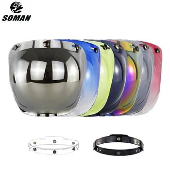 цена на Open Face Helmet Visor Motorcycle Helmet Bubble Visor Casco Moto Visor Lens Capacete Bubble Shield Motorcycle Helmets Accessorie