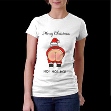 Rude Santa Father Christmas T-shirt Funny Nude Bottom men t shirt merry christmas Santa Claus shirt for men women gift Tee Shirt