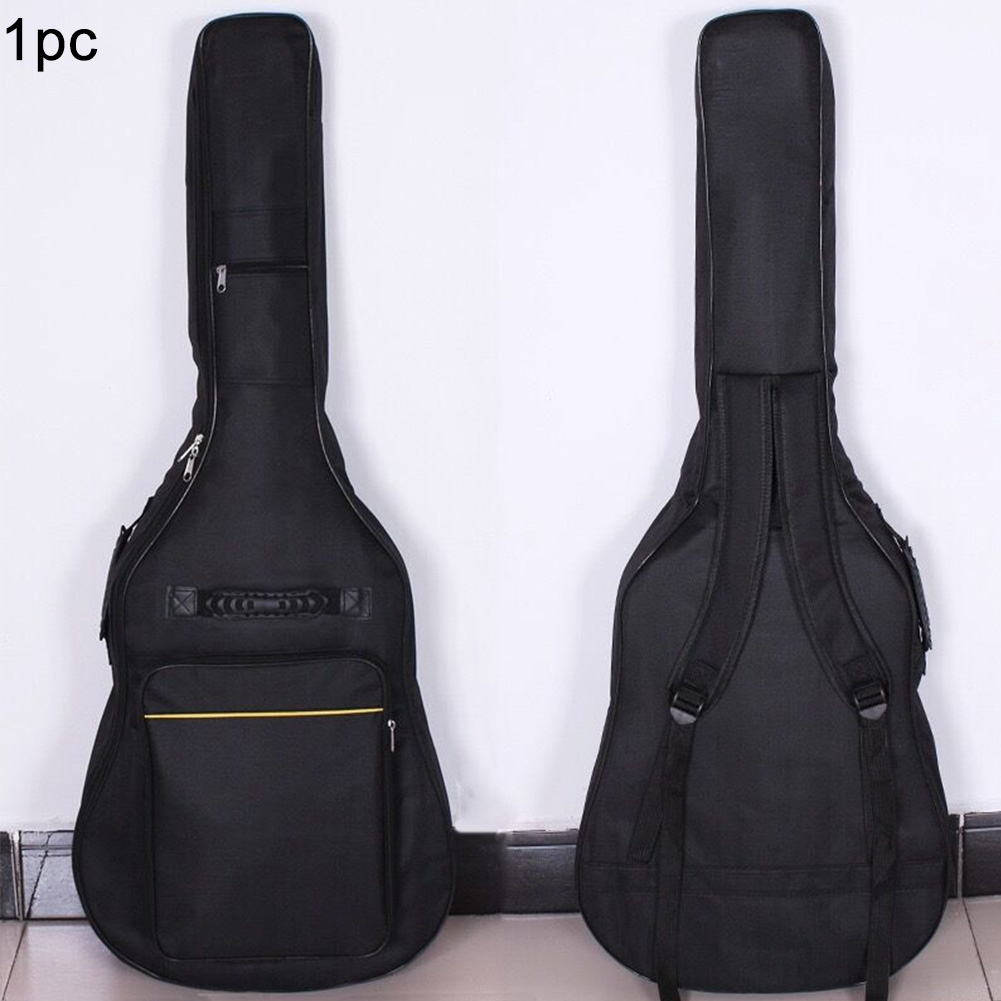 Zipper Oxford Cloth Full Size Cover Carry Soft Interior Pockets Case Thicken Padded Protective Guitar Bag Reinforced Waterproof
