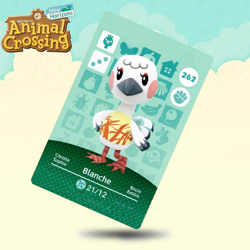 262 Blanche Animal Crossing Card Amiibo Cards Work For Switch NS 3DS Games