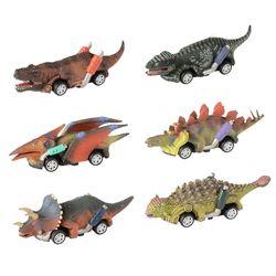 Pull Back динозавр Машинки Игрушки 6 упаковок динозавр родстер вечерние сувениры игры Дино