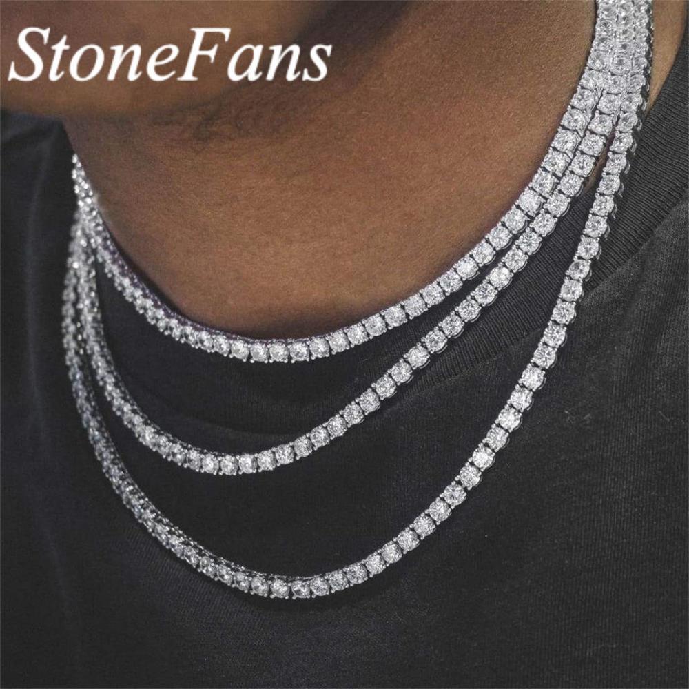 Женское колье-чокер Stonefans, розовое ожерелье с цепочкой для тенниса, позолоченное, посеребренное, в винтажном стиле, с черным кристаллом, стра...