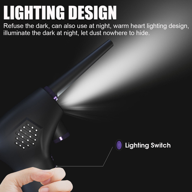 45000 RPM Wireless Air Duster Cleaner Blower Hand-Held Charging Cordless Dust Blower Tablet Laptop Computer Accessories 4