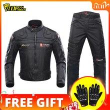 ドゥーハンオートバイジャケット男性乗馬モトクロスレースジャケットモトジャケット防風coldproofバイク服保護
