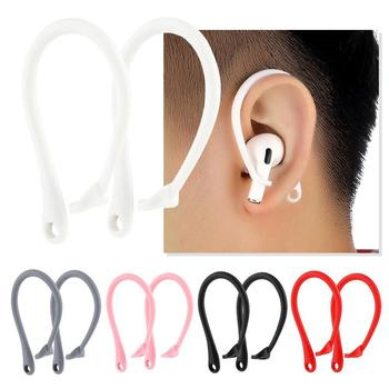 1 Pair Sports Silicone Ear Hooks for Apple AirPods pro Accessories Anti-fall Bluetooth Earphone for airpod Holder for Airpods image
