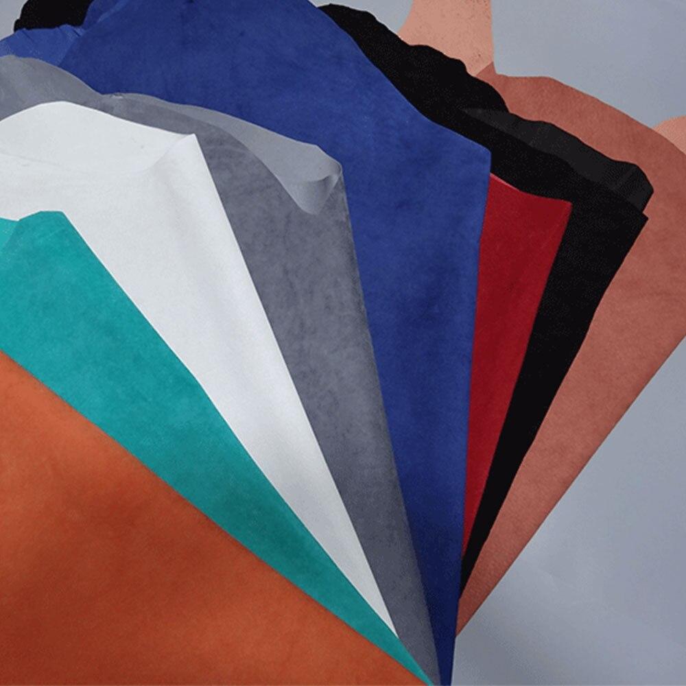 Multi color Genuine pig split lining shoes bag   suede   Hide Skin real   leather   material couro piel de cuero whole piece DIY