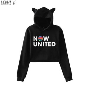 WAMNI 2020 Now United - Better Album Cat Hoodie Women Better Now United Lyrics Pullover Girl Kawaii Harajuku Tracksui
