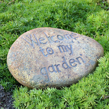 Retro Pottery Clay Welcome To My Garden Stone Sign American Home Garden Decor Welcome Symbol Plaques