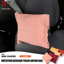 Auto Interior Imitation Deerskin Leather Car Tissue Napkin Box Bag package Case for Mini Cooper JCW S One D R55 R60 F54 F55 F60