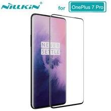 NILLKIN מזג זכוכית מדהים 3D 9H CP + מקס מלא נגד פיצוץ זכוכית מסך מגן עבור OnePlus 7 פרו стекло