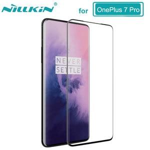 Image 1 - NILLKIN temperli cam İnanılmaz 3D 9H CP + MAX tam anti patlama cam ekran koruyucu için OnePlus 7 pro стекло