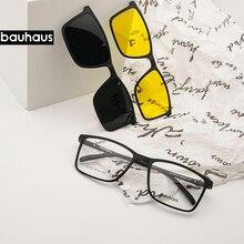 Магнитные плоские поляризованные солнцезащитные очки, мужские очки с большой оправой, ultem клип, солнцезащитные очки, мужские клипсы X3180