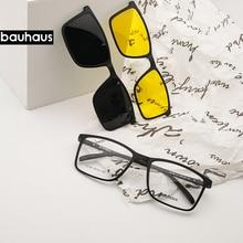 Ímã Plana Polarizada Óculos De Sol Dos Homens grandes óculos de armação ultem óculos Clipe óculos de Sol Óculos Homens Clips X3180