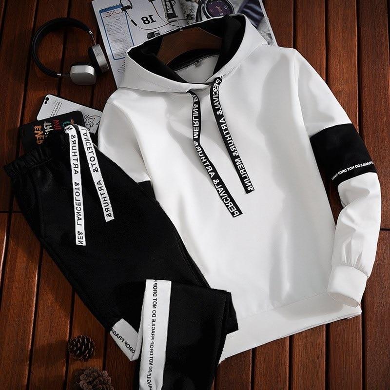 ASALI Men Sportswear Set Men's Active Tracksuits hoodies&Sweatshirts  sportsuit Mens Jacket Hooded Coat Winter Brand Clothing set|hoodie  brand|set brandset men - AliExpress