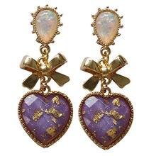3 farben Herz Bogen Perle Ohrringe Valentines Tag Ohrringe Studs Für Frau Mädchen Freund Mode Anhänger Schmuck Geschenke RT56S34
