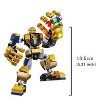Thanos Marvel Avengers Star Wars Black Warrior Iron Man Homem Aranha Figure brinquedos Toy Building Block Action Assembly