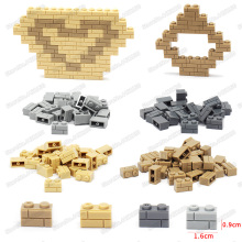 Wall Brick 1x2 Building Blocks Piece Diy Military City Technologys Figures Block Castles Assemble Model Moc Child Christmas Toys