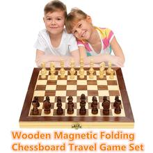 Chess-Set Board-Game Wooden Portable-Board International Folding Funny