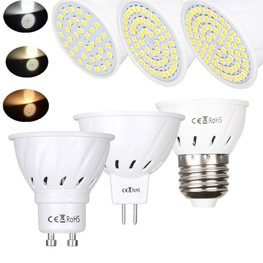GU10 LED E27 Lamp MR16 Spotlight Bulb 36 54 72leds Lampara 110V 220V GU 10 Bombillas Led Mr16 Lampada Spot Light 3W 5W 7W