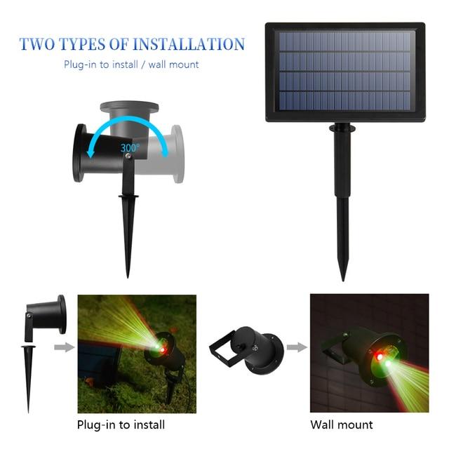 Outdoor Solar Garden Lawn Stage Effect Light Fairy Sky Star Laser Projector Waterproof Landscape Garden Christmas Decor Lamp 5