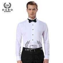 Новое поступление, модные хлопковые мужские рубашки с длинным рукавом, однотонная мужская рубашка-смокинг, camisas hombre DR883